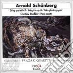 Schoenberg Arnold - Quartetto In Re, Trio Op.45, Fantasia Per Violino E Pianoforte Op.47 cd musicale di Arnold Schoenberg