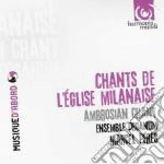Chants de l'eglise milanaise cd musicale