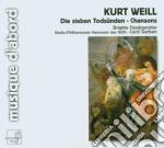 Die sieben tods????nden, chansons cd musicale di Kurt Weill