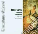 Quartetti parigini nn.1-6 cd musicale di Telemann georg phili