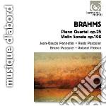 Quartetto con pianoforte op.25, sonata p cd musicale di Johannes Brahms