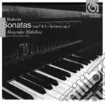 Sonata per pianoforte n.1, n.2; scherzo cd musicale di Johannes Brahms