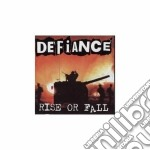 RISE AND FALL                             cd musicale di DEFIANCE