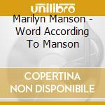 THE WORD ACCORDING TO MANSON cd musicale di MARILYN MANSON & THE SPOOKY KIDS