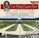 Opere vocali wq 239, 249, 243, 217, 250, cd musicale di Bach carl philipp e