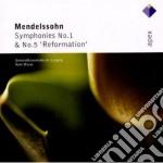 Apex: sinfonie nn. 1 & 5 cd musicale di Mendellsohn\masur
