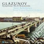 Sinfonia n. 8 - raymonda cd musicale di SEREBRIER\GLAZUNOV