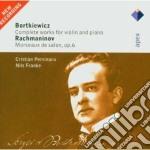 Apex: violin sonata op.26- suite op. 63 cd musicale di Bortkiewicz - rachma