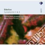 Sibelius - Saraste - Apex: Sinfonie N. 1 & 4 cd musicale di Sibelius\saraste
