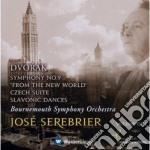 Dvorak - Serebrier - Bournemouth S.o. - Sinfonia N. 9 - Czech Suite - Slavonic Dances cd musicale di Dvorak\serebrier - b