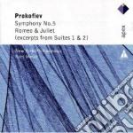 Apex: sinfonia n. 5 - romeo & giulietta cd musicale di Prokofiev\masur