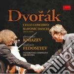 CONCERTI PER VIOLONCELLO & DANZE SLAVE    cd musicale di Vla Dvorak\fedoseyev