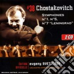 Svetlanov edition: sinfonie 1 - 5 & 7 cd musicale di SHOSTAKOVICH\SVETLAN