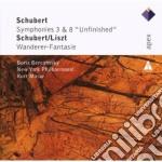 Apex: sinfonie nn. 3 & 8 - wanderer fant cd musicale di Schubert\berezosky -