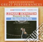 GERSHWIN: RAPSODIA IN BLU - AMERICANO A PARIGI cd musicale di Leonard Bernstein