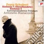 Schubert:sinfonie n. 3 & 7 cd musicale di Antonello Manacorda