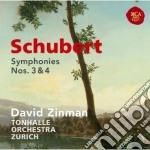 Schubert:sinfonie n. 3 & 4 cd musicale di David Zinman