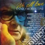 WE ALL LOVE - TRIBUTO A ENNIO MORRICONE cd musicale di Ennio Morricone