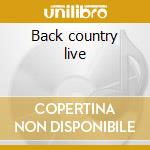 Back country live cd musicale di Five for fighting