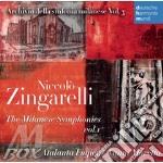 Zingarelli - le sinfonie milanesi vol.1 cd musicale di Vanni Moretto