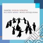 Handel:sonate per violino e basso contin cd musicale di Riccardo Minasi