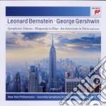 Gershwin - rapsodia in blu,americano a p cd musicale di Leonard Bernstein