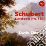 Schubert: sinfonie no. 1 & no.2 cd musicale di David Zinman