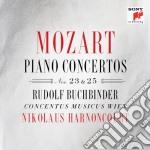 Mozart:concerti no.23&25 per pianoforte cd musicale di Nikolau Harnoncourt