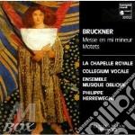 MESSA IN MI MINORE, MOTTETTI cd musicale di Anton Bruckner