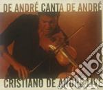 DE ANDRE' CANTA DE ANDRE' CD+DVD          cd musicale di DE ANDRE' CRISTIANO
