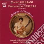 Giuliani Mauro / Carulli Ferdinando - Ariette Op.95 N.1 > N.6, 3 Valzer Op.57, 6 Cavatine /sandro Volta Chit., Maurizia Barazzoni Soprano. cd musicale di Mauro Giuliani