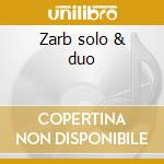 Zarb solo & duo cd musicale