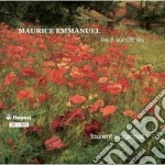 Sonatine (les 6 sonatines) cd musicale di Maurice Emmanuel