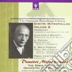 Mitropoulos Dimitri Vol.8  - Mitropoulos Dimitri Dir cd musicale