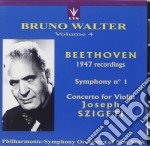 Walter Bruno Vol.4 /josef Szigeti Vl, Philharmonic Symphony Orchestra Of New York cd musicale