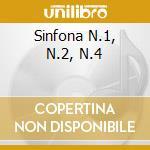 SINFONA N.1, N.2, N.4 cd musicale di Gustav Mahler
