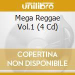 MEGA REGGAE VOL.1 (4 CD) cd musicale di B.MARLEY/P.TOSH/THIR