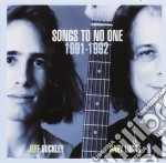 Jeff Buckley & Gary Lucas - Songs To No One 1991-1992 - Import cd musicale di Buckley jeff-gary lucas