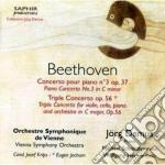Beethoven Ludwig Van - Concerto Per Pianoforte N.3 Op.37, Concerto Triplo Op.56 cd musicale di Beethoven ludwig van