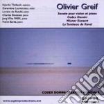 Greif Olivier - Sonata Per Violino E Pianoforte, Codex Domini, Wiener Konzert cd musicale di Olivier Greif