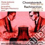 Sciostakovic Dmitri / Rachmaninov Sergei - Sonata Op.40  - Jankovic Xenia  Vc/jacqueline Bourgès Maunoury, Pianoforte cd musicale di Dmitri Sciostakovic