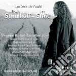 Schulhoff Erwin / Smit Leo - Les Voix De L'oubli: Concertino Per Flauto, Viola E Contrabbasso  - Reibel-escoffier Virginie  Trav cd musicale di Erwin Schulhoff