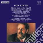 CONCERTO X VL OP.33, TRASCRIZIONI DA MUS cd musicale di Einem Von