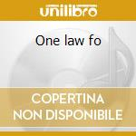 One law fo cd musicale