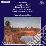 Musica x pf vol.3: sonata x pf n.1 op.74 cd musicale di Glazunov