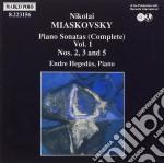 Myaskovsky Nikolai Yakovlevich - Sonate X Pf Vol.1: Sonata N.2 Op.13, N.3 Op.19, N.5 Op.64  - Hegedus Endre  Pf cd musicale di MYASKOVSKY NIKOLAI Y