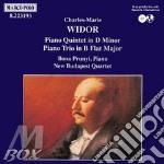 Quintetto x pf e archi op.7, trio x pf, cd musicale di Widor