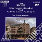 QUARTETTI X ARCHI VOL.2 (INTEGRALE): N.2 cd musicale di Louis Spohr