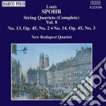 QUARTETTI X ARCHI VOL.8 (INTEGRALE): N.1 cd musicale di Louis Spohr