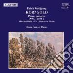Korngold Erich Wolfgang - Sonata X Pf N.1 E N.2 Op.2, Marchenbilder Op.3, Aus Der Musik Zu Viel Larmen Um  - Prunyi Ilona & Falvay S.  Pf cd musicale di KORNGOLD ERICH WOLFG